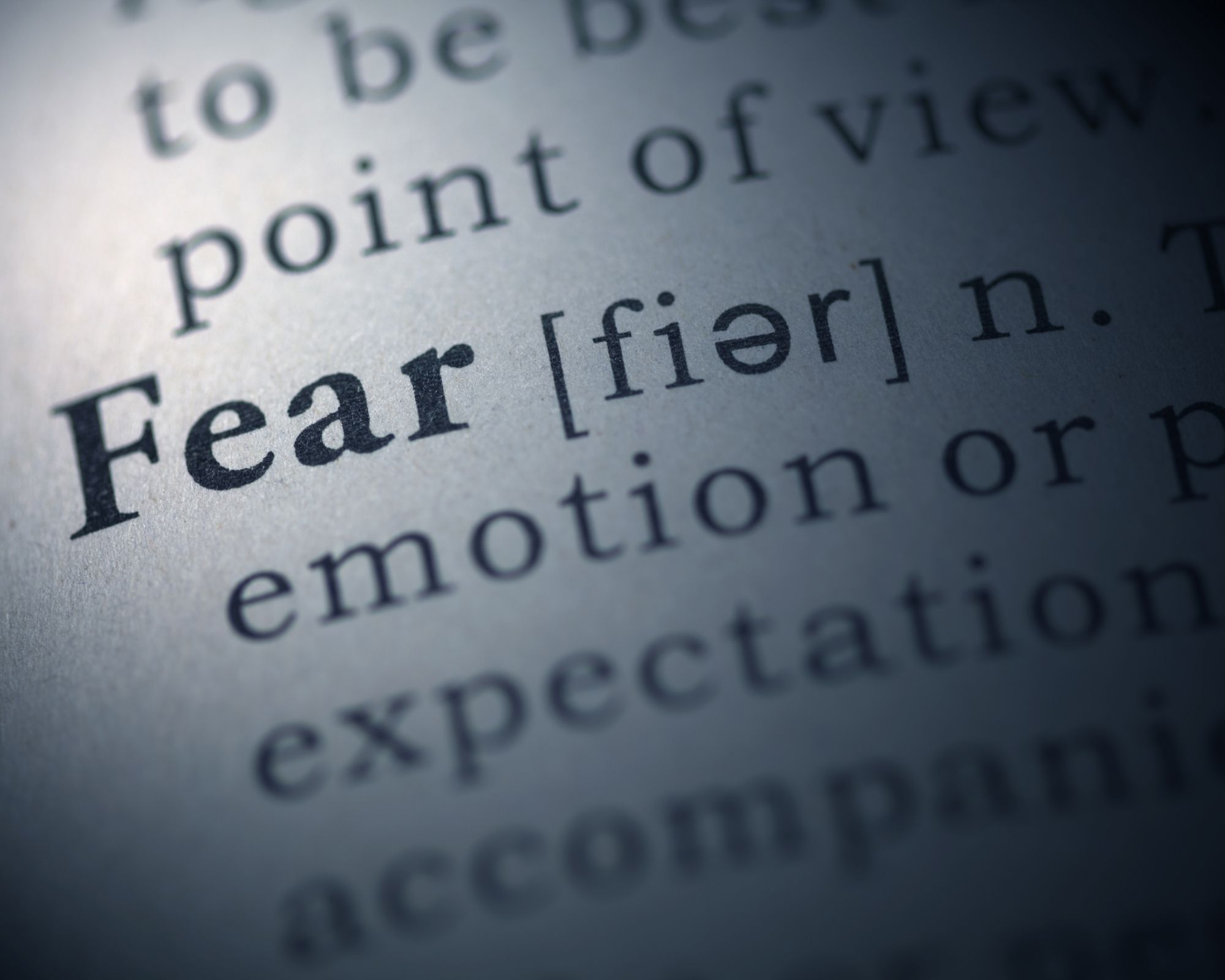 Bolded Word Fear - Related to psoas