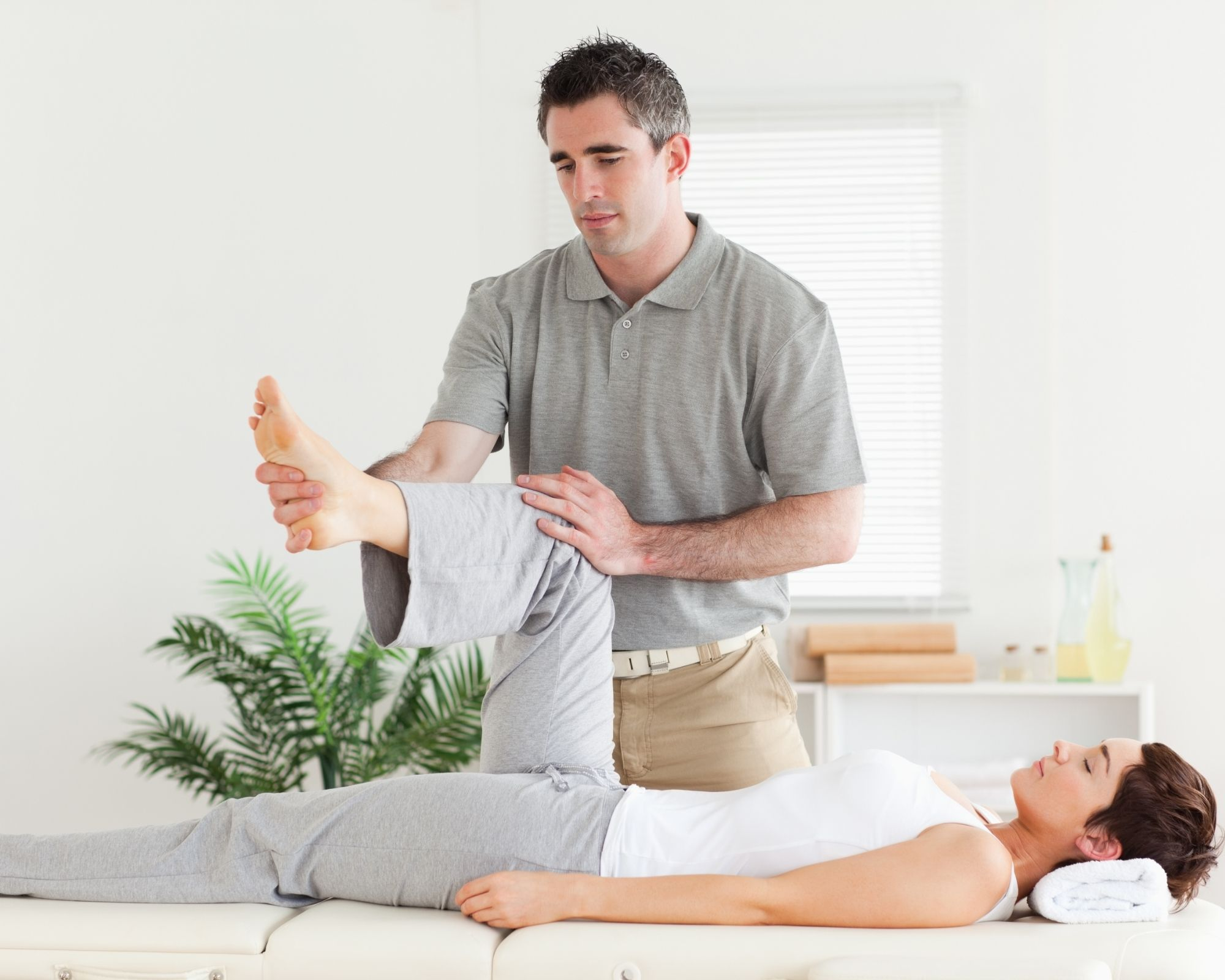 hip stretch by chiropractor or PT