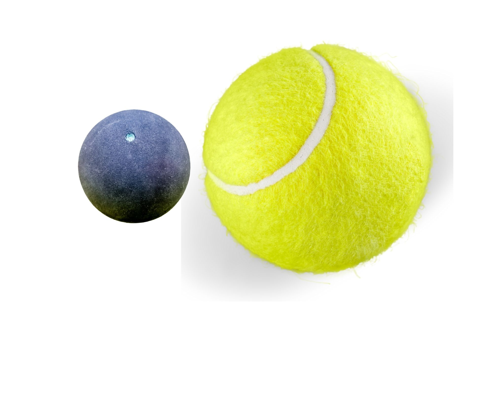 Picture of a racquet ball and a tennis ball which you can use to help improve flexibility
