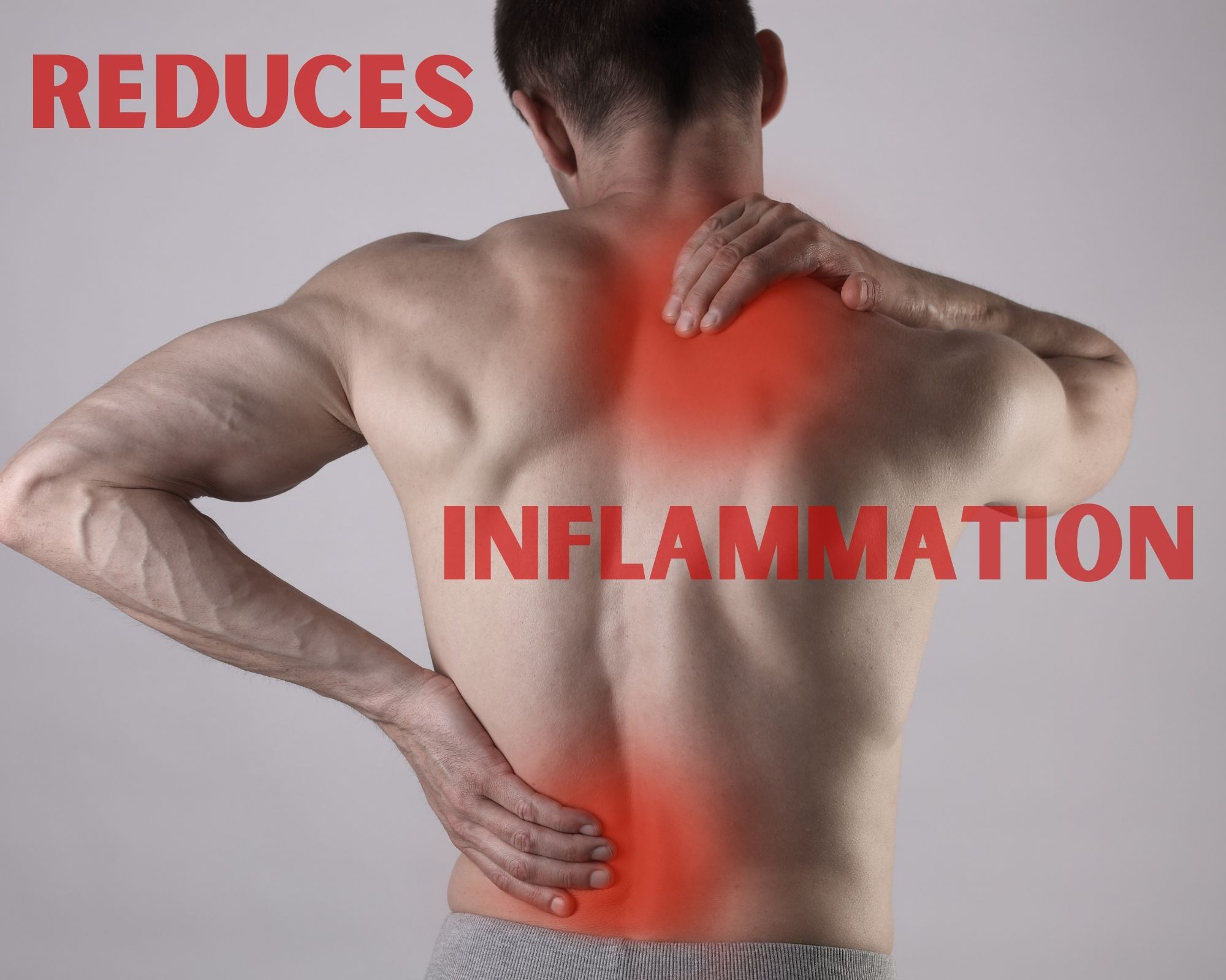 Man with Inflammation - Wording reduces inflammation