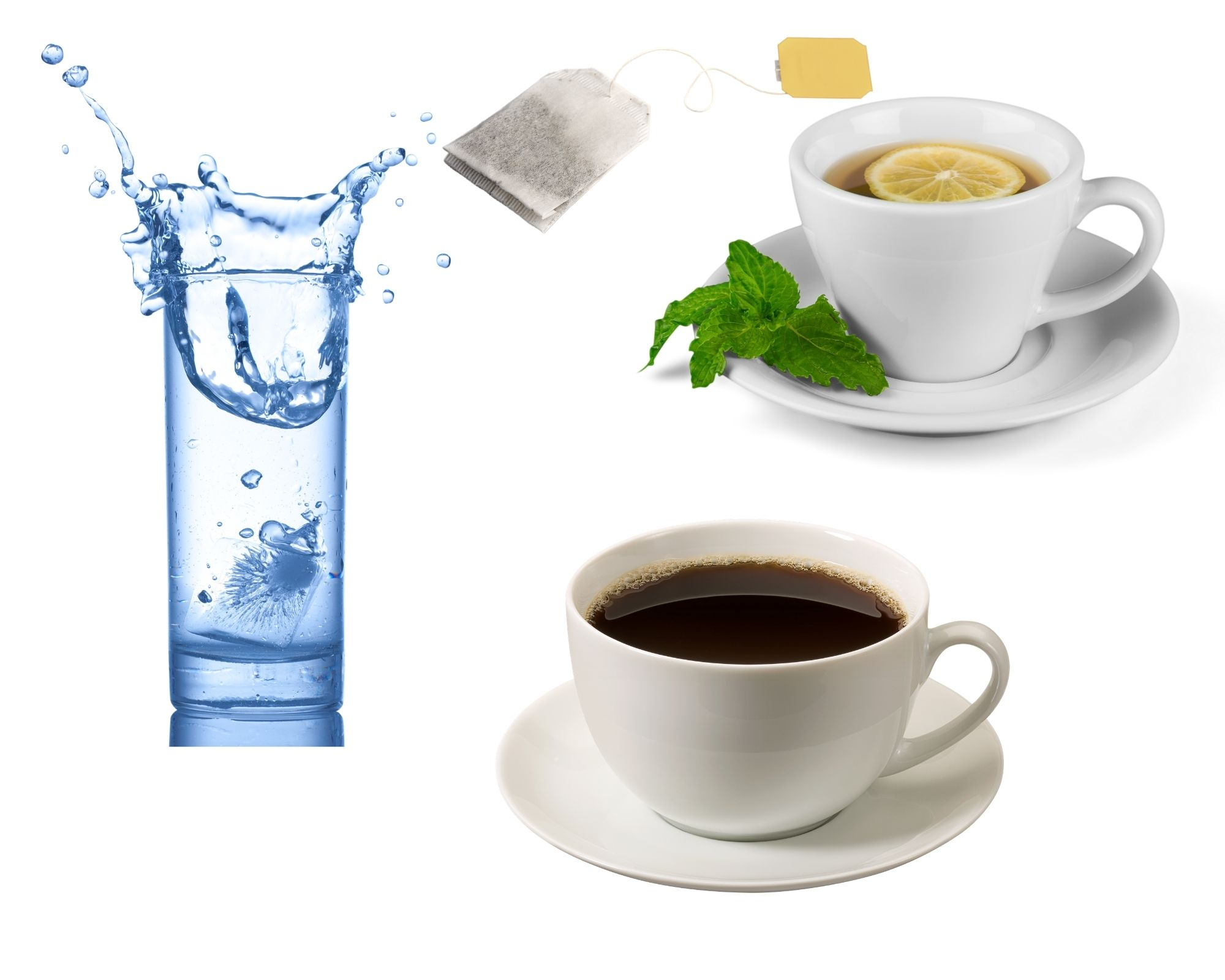 Water, Tea, and Coffee