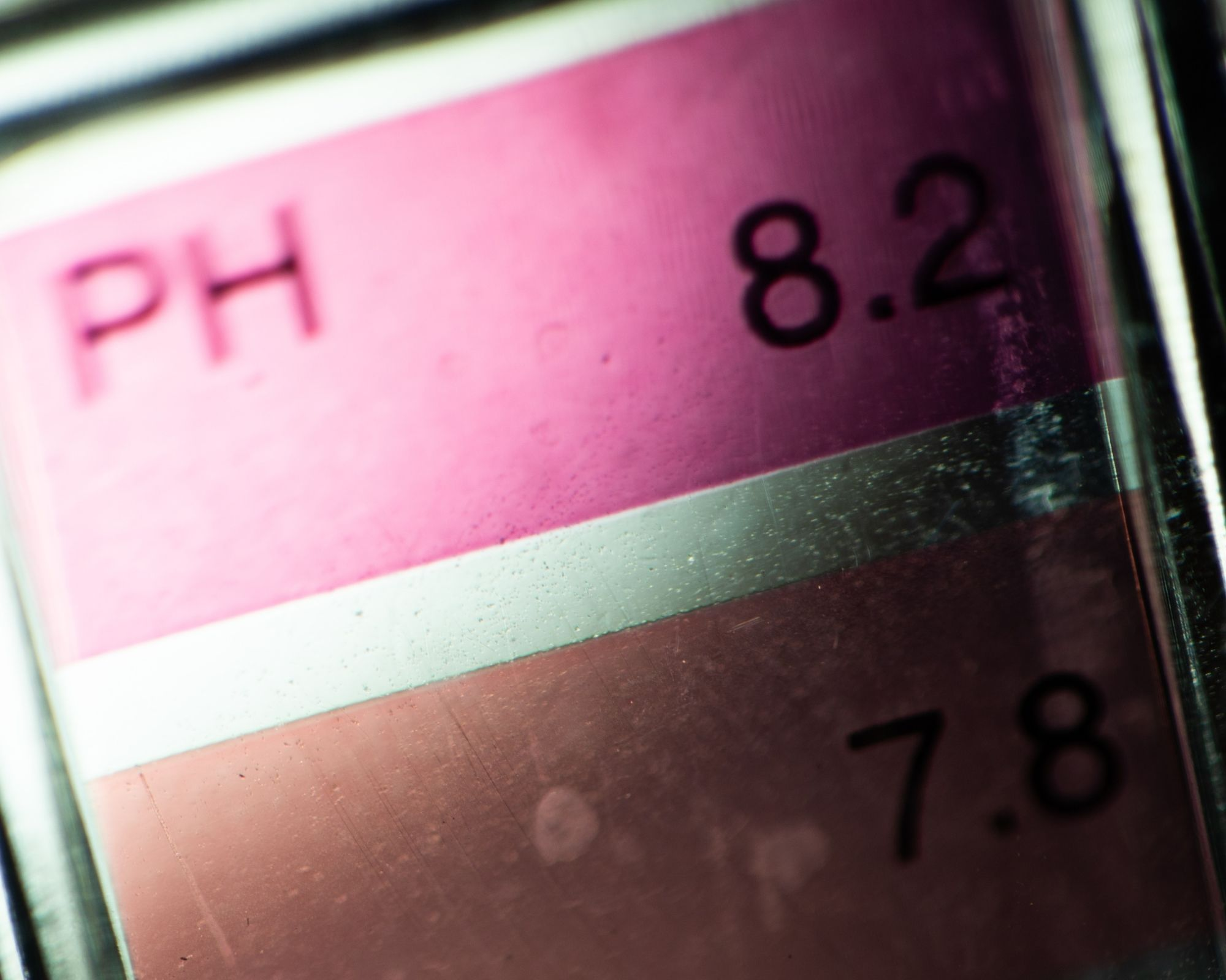 Picture of a PH scale. - in reference to eggshell membrane's effect on the PH range.