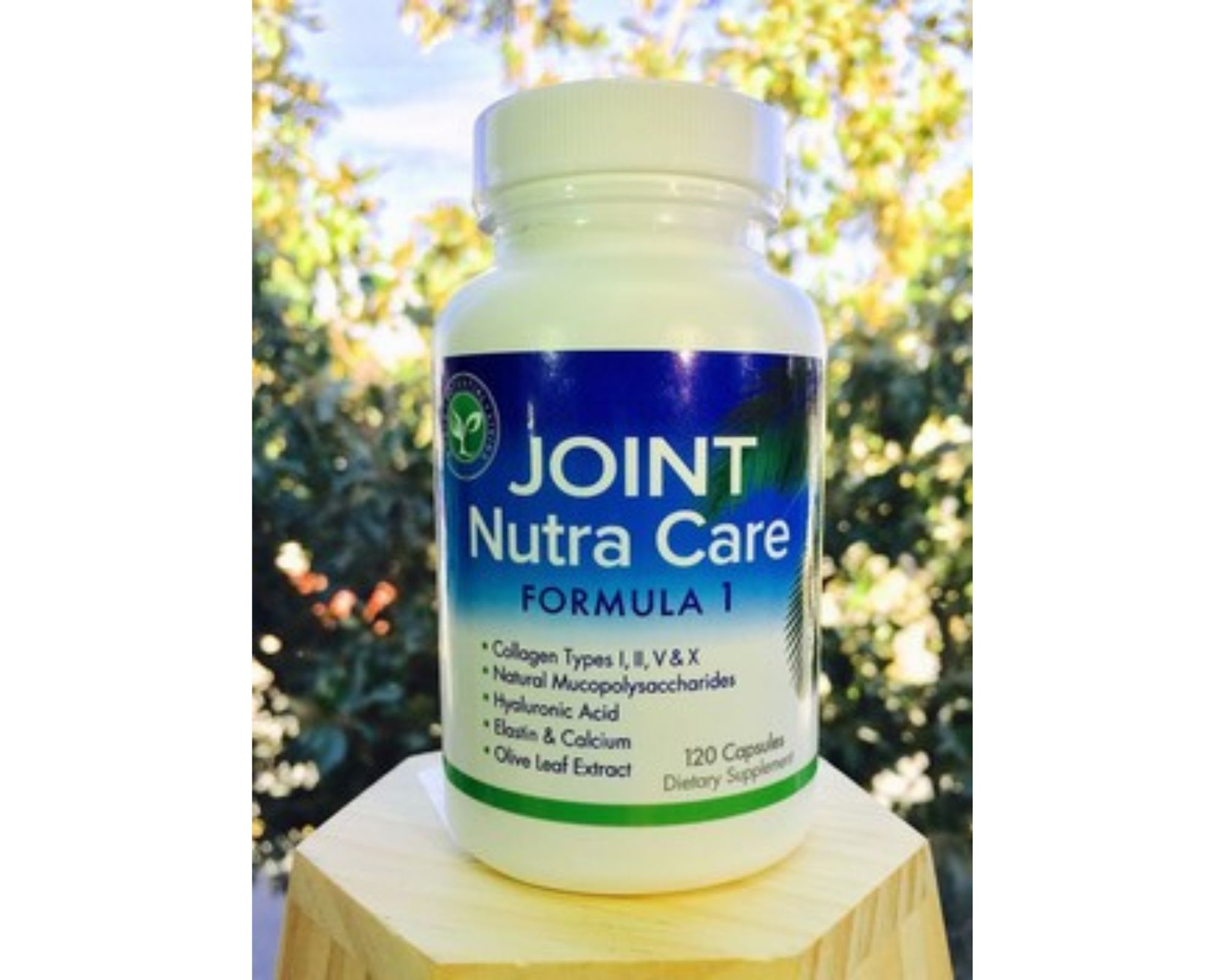 Bottle of Joint Nutra Care - with olive leaf extract in it