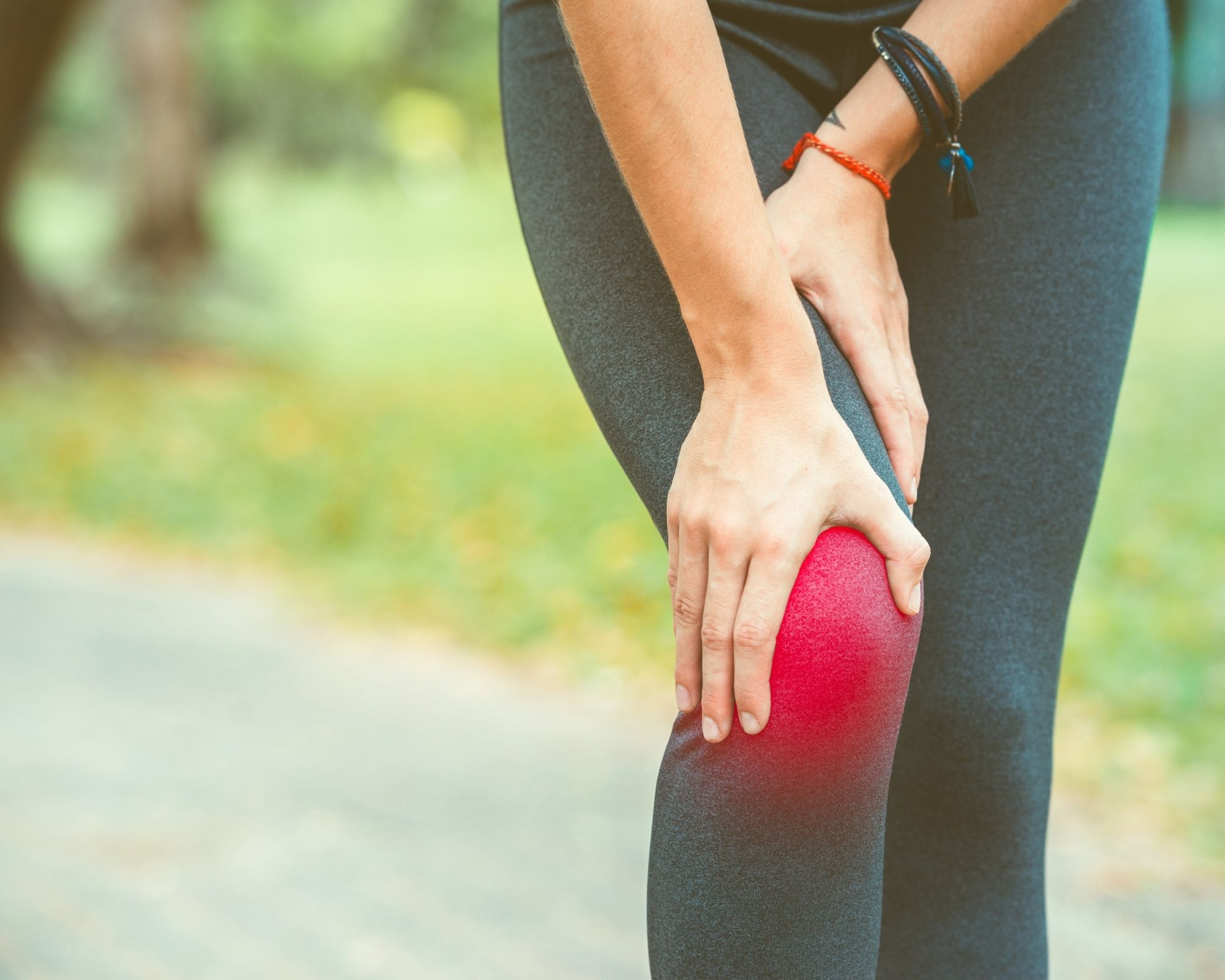 Knee with inflammation - Astaxanthin
